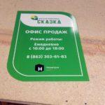 наружная реклама пластик табличка работы