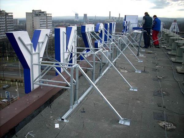 монтаж на крыше