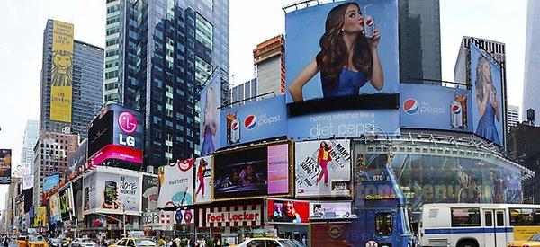 рекламные баннеры в Нью-Йорке