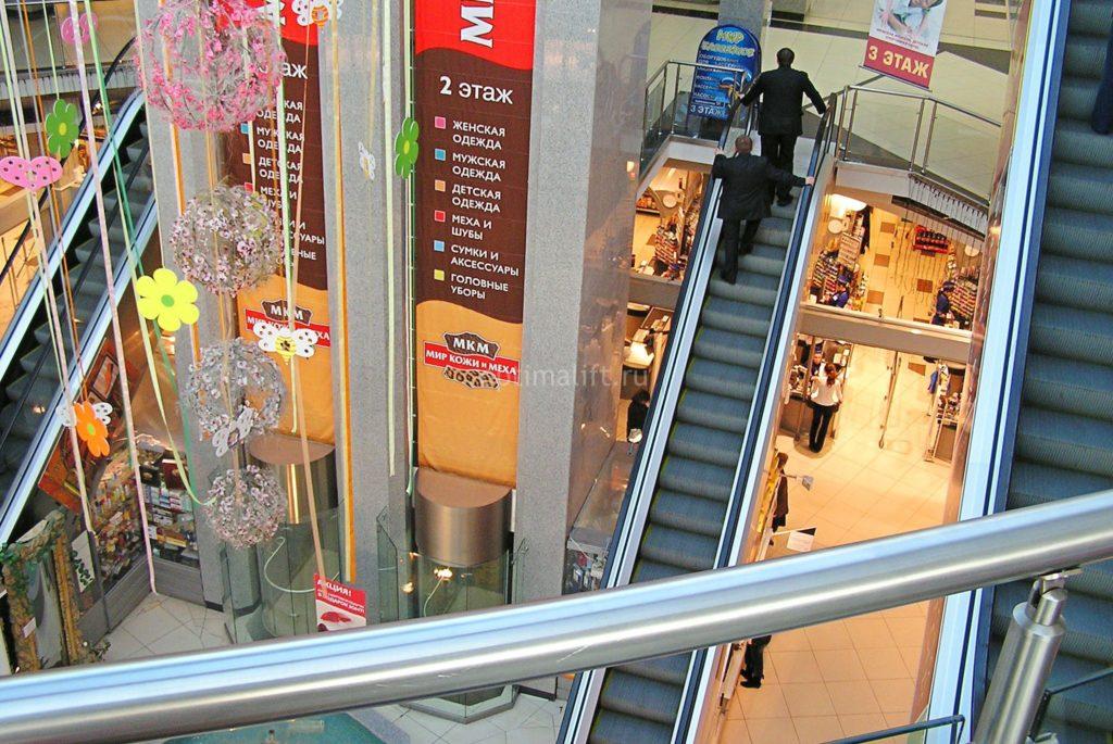 лифт и эскалатор в ТЦ